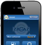 T�l�chargez l'application Zagaz pour iphone, android et windows mobile.